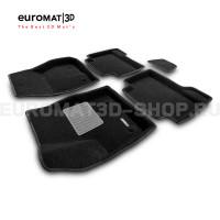 Текстильные 3D коврики Euromat3D Business в салон для Ford Kuga (2013-) № EMC3D-002210