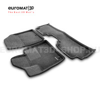Текстильные 3D коврики Euromat3D Business в салон для Kia Sorento Prime (2015-) № EMC3D-002925G Серые